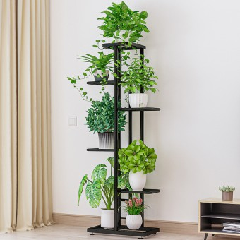 7 Pot 6 Tier Flower Rack Decorative Shelf Plant Stand 0145