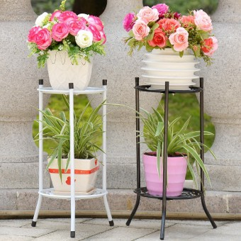 2 Tier Flower Rack Flower Pot Plant Stand 0146