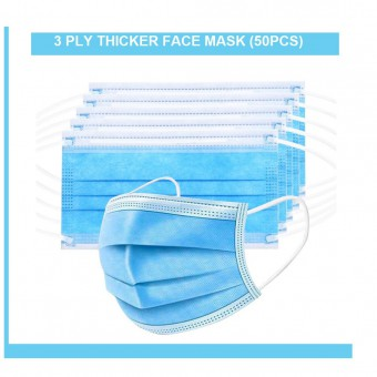 50pcs Face Mask 口罩 3PLY Disposable Earloop and Disposable Hand Gloves (1144)