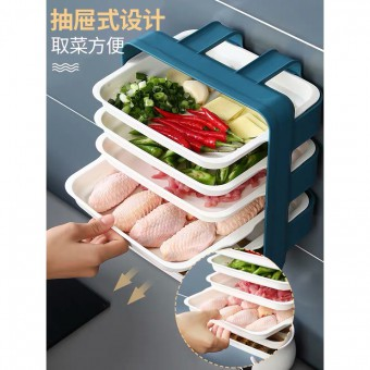 6 Tier Kitchen Dish Steamboat Tray Wall Mounted Storage Rack 1233