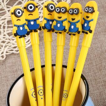 Minions Gel Pen Cartoon Stationary Cute Free Gift 4067
