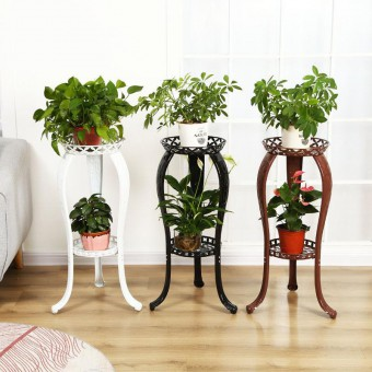 2 Tier Flower Pot Stand Antique Style 0140