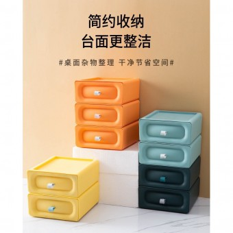 1 Unit Table Top Drawer Storage Box Office Organiser Stackable Colorful 1234