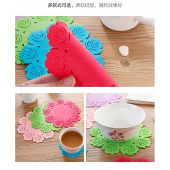 Rose Silicone Coaster Cup Coaster Table Mat 4074