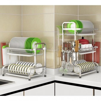 Dish Rack 2/3 Tier 304 Stainless Steel 0151/0152